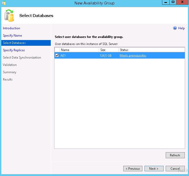 Creation of the AlwaysOn Availability Group in SQL Server 2012