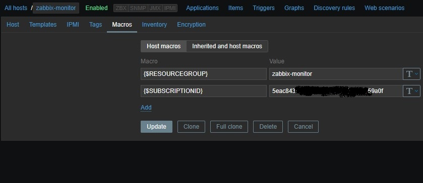 Monitoring Azure resources with Zabbix